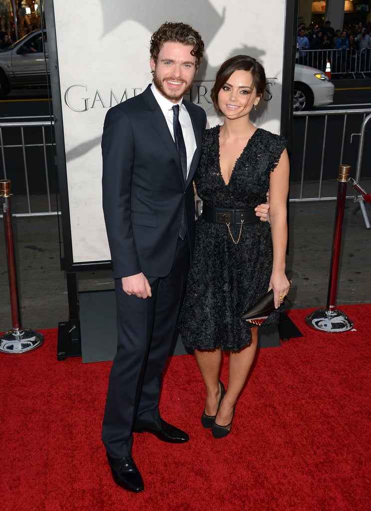 Richard Madden walked the red carpet with Jenna-Louise Coleman.