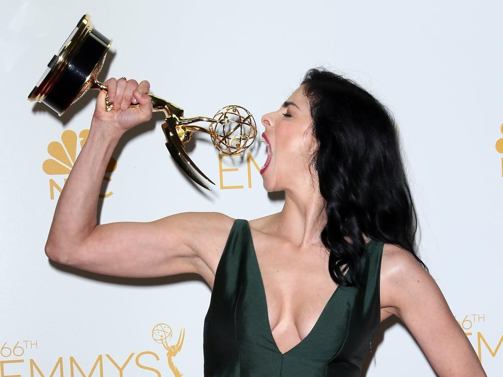 Sarah Silverman showed off her big Emmy appetite.