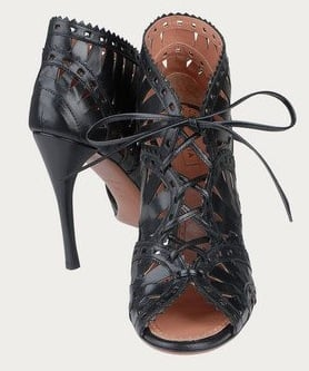 Azzedine Alaia Lace-Up Booties