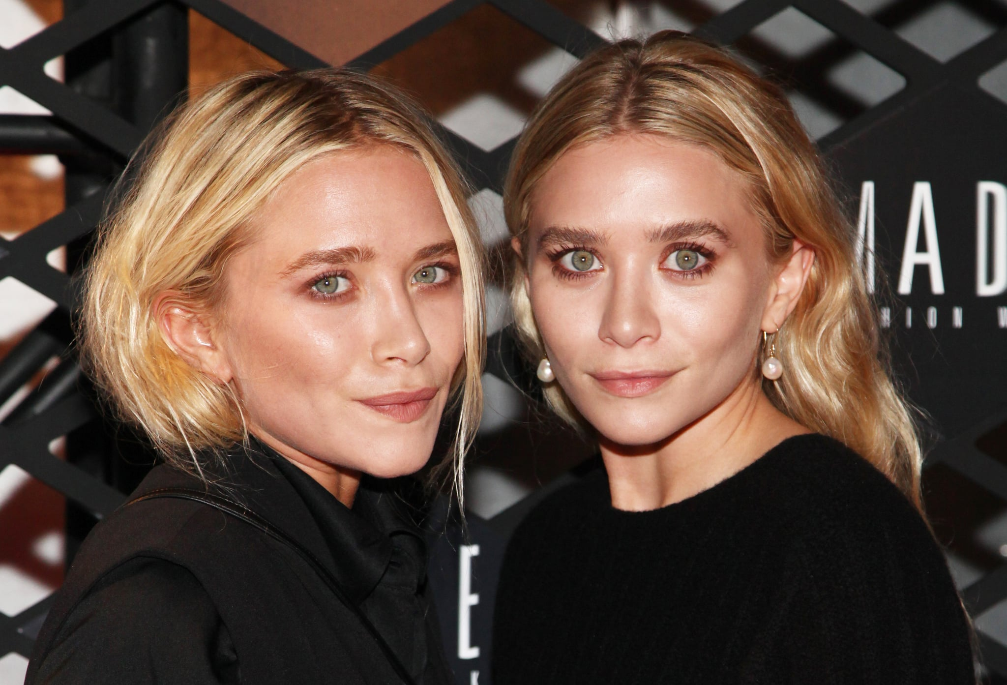 Mary-Kate and Ashley Olsen at the Lexus Design Disrupted Fashion Experience.