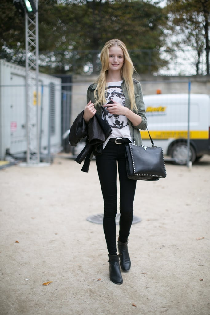 Dressed-down and rocker-chic.