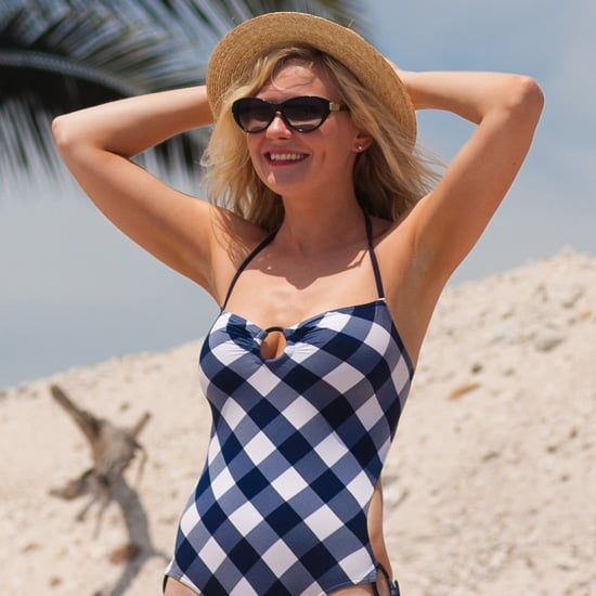 Kirsten Dunst Checkered Bathing Suit