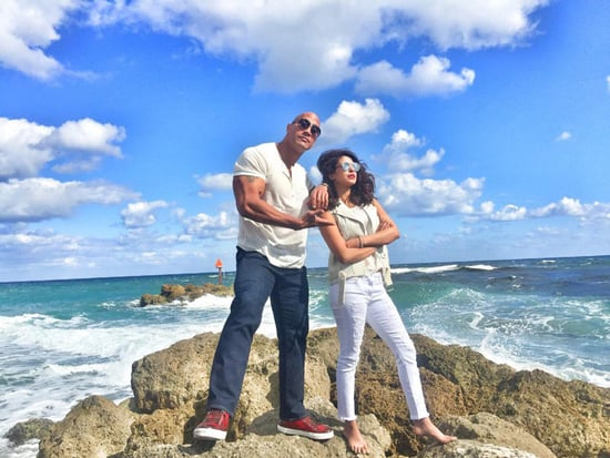 It's Official! Priyanka Chopra to Play Villain in Baywatch Movie - See an Exclusive Pic with Costar Dwayne 'The Rock' Johnson