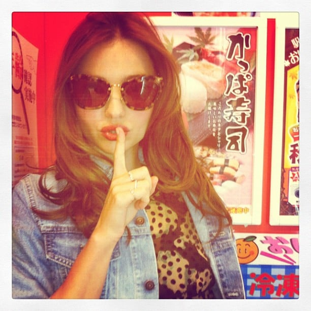 Miranda Kerr sent greetings from Japan in September. Source: Instagram user mirandakerrverified