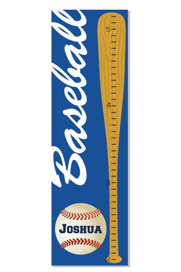 Track your child's height on this baseball-themed growth chart ($35) for a sweet keepsake.