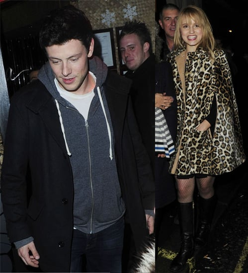 Pictures of Glee Cast at Mahiki in London, and Video of Performance on The X Factor