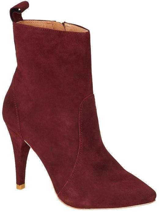 Joie Hadie dark red ankle boots ($165, originally $325)