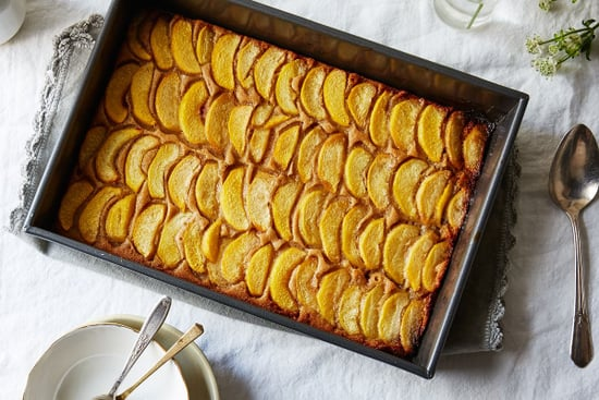 A Peach Cobbler That's Maybe Cake and Definitely Bakes in a Pool of Butter
