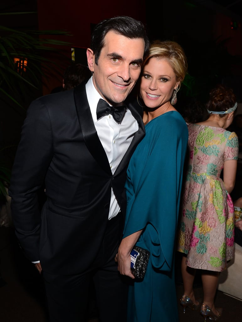 At the Fox Network party, Julie Bowen and Ty Burrell posed for photos.