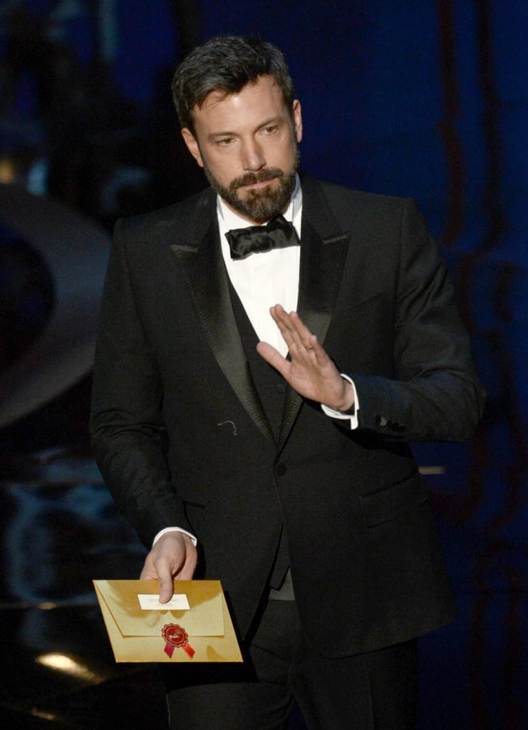 Ben Affleck on stage at the Oscars 2013.