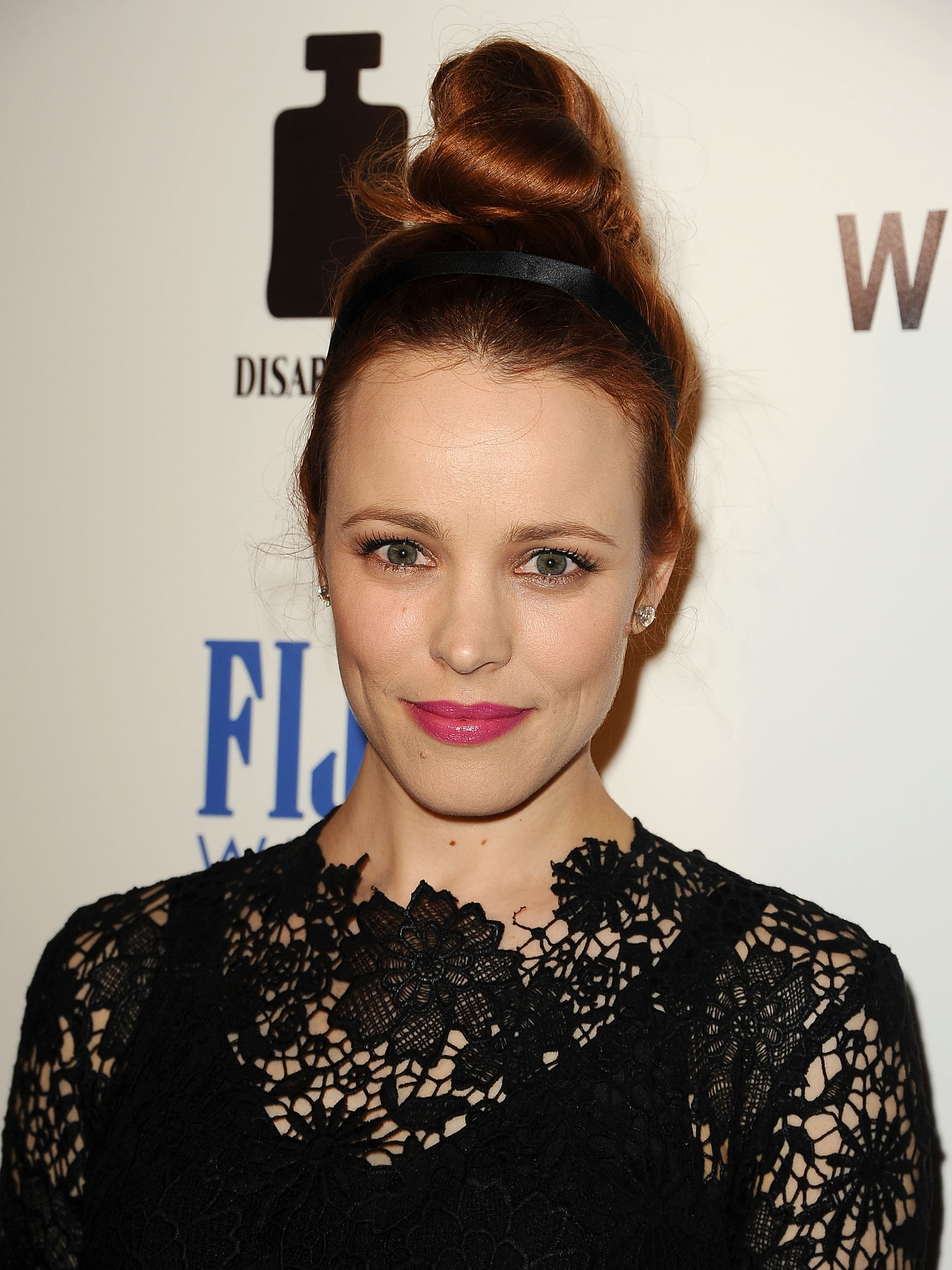 To achieve this impressive topknot, Rachel McAdams had the help of stylist Mark Townsend.