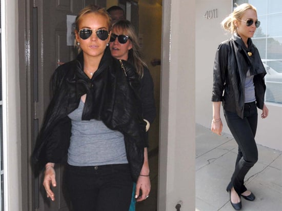 Lindsay Lohan Drinking in NYC, Stealing Fur Coat