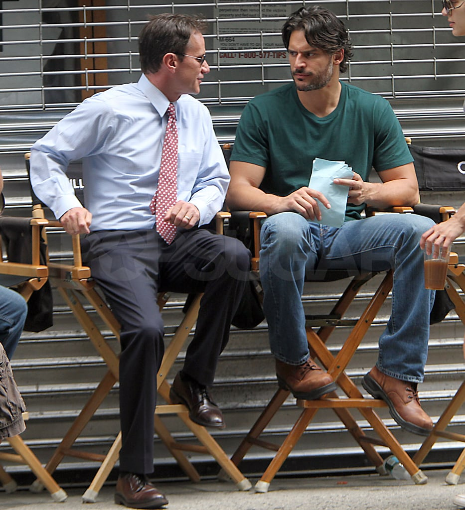 Tim and Joe chatted between takes.