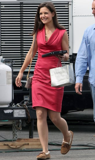 Pictures of Katie Holmes on the Set of Jack and Jill in Los Angeles