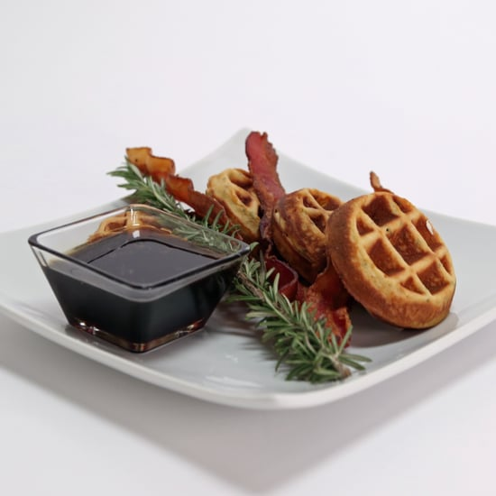 Bacon and Chive Waffles With Bourbon-Rosemary Syrup