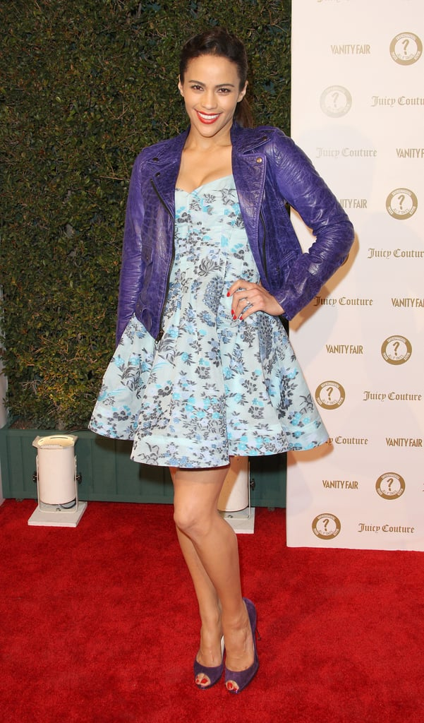 Paula Patton attended a Vanity Fair and Juicy Couture bash in LA.