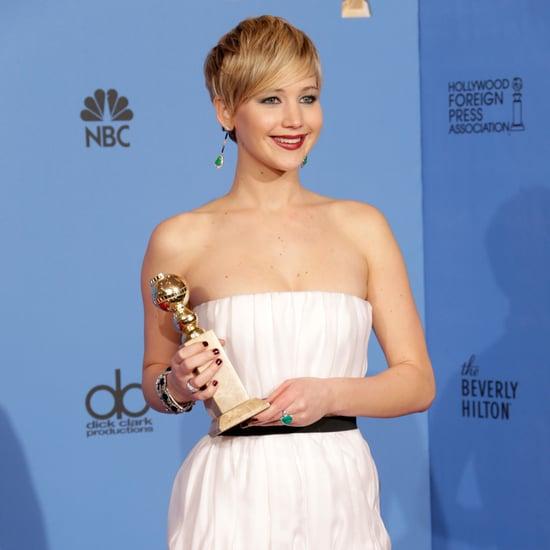 Jennifer Lawrence Golden Globes Pressroom 2014