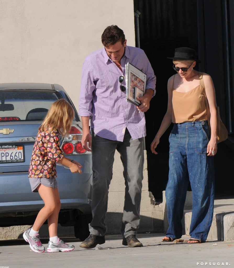 Michelle Williams, Jason Segel, and Matilda Ledger spent an afternoon shopping together.