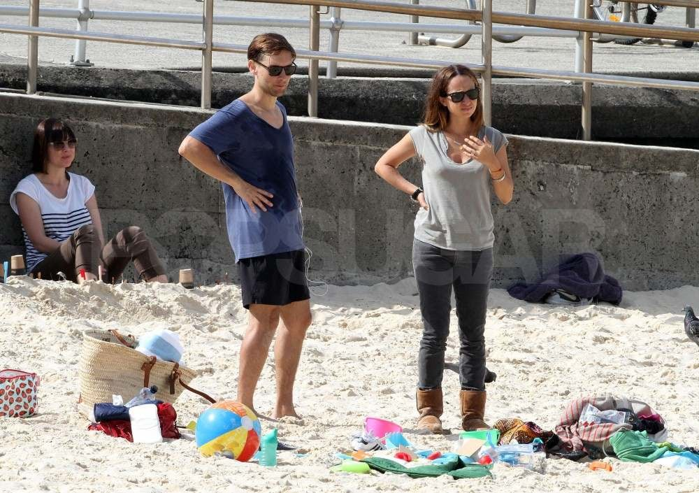 Tobey Maguire and Jennifer Meyer in Australia.