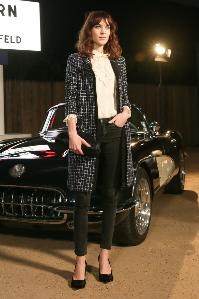 Alexa Chung at the Chanel Métiers d'Art collection show.
