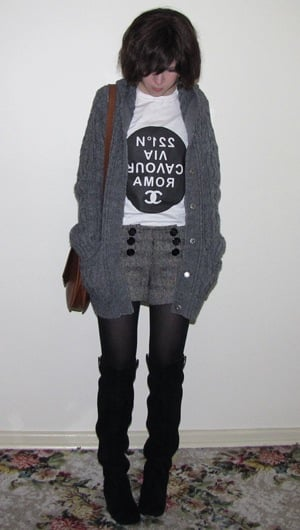 Look of the Day: Cable Knit Cutie