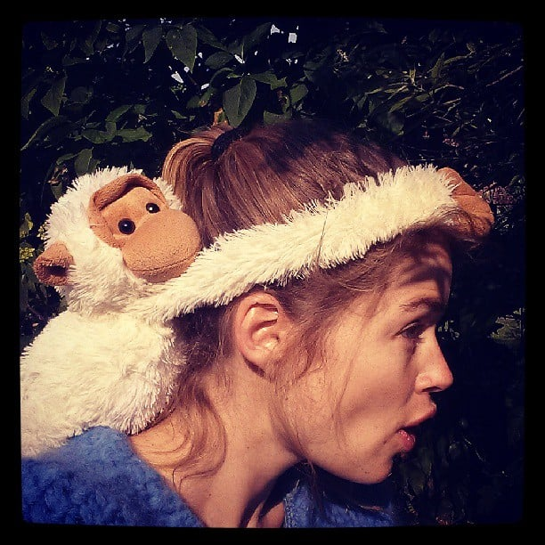 Doutzen Kroes monkeyed around while entertaining her son, Phyllon. Source: Instagram user doutzen