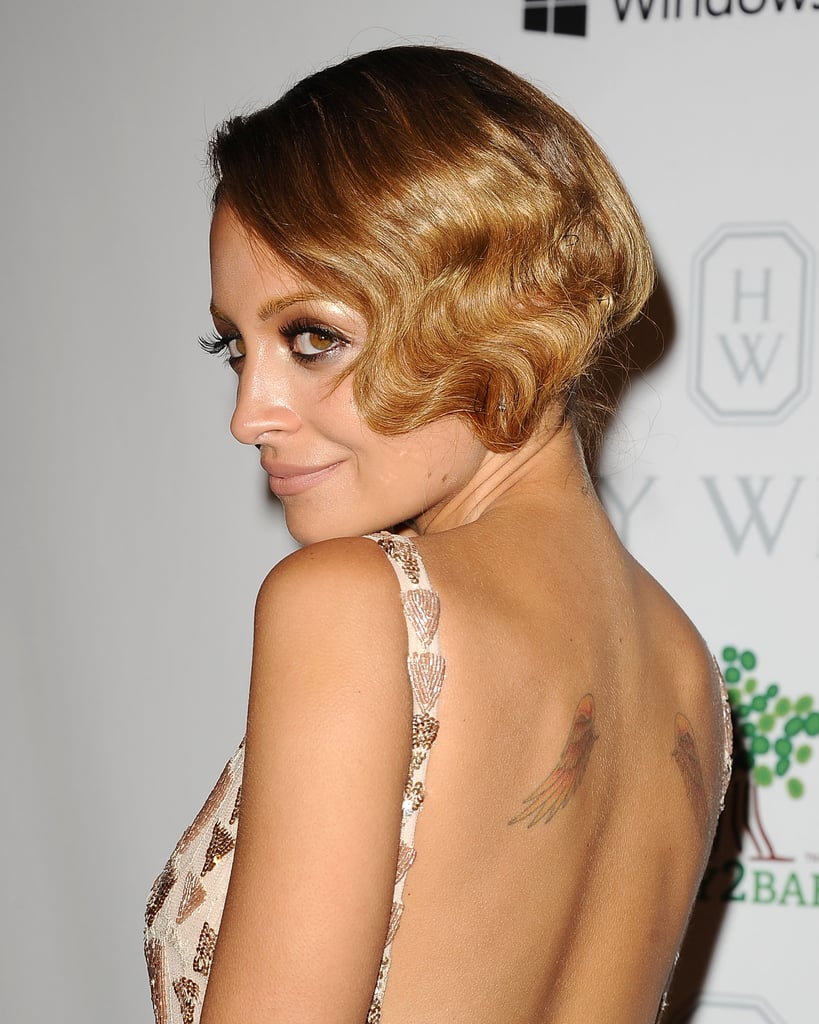 Nicole Richie's marcel waves will take a little practice to recreate. You can sculpt them with your fingers or try to find marcel wave clips on eBay or at a flea market. The key is to make sure each curl lines up with the one next to it.
