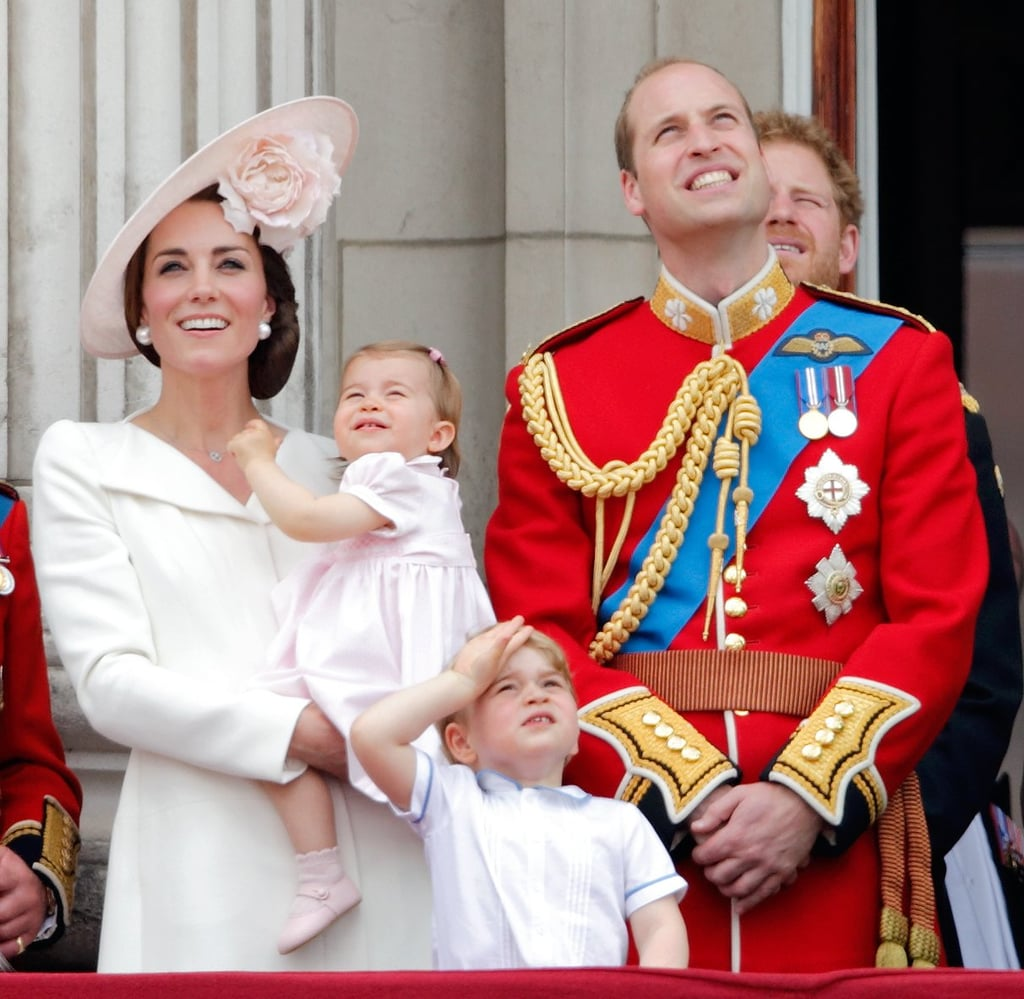 When He Kept His Eyes on the Sky at the Trooping the Colour Parade