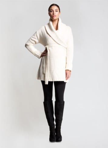 Perfect with your favorite leggings and boots, this belted cardigan from Isabella Oliver ($76, originally $189) is made from luxurious cotton and merino wool blend. It has a fashionable shawl neck and an attached belt.