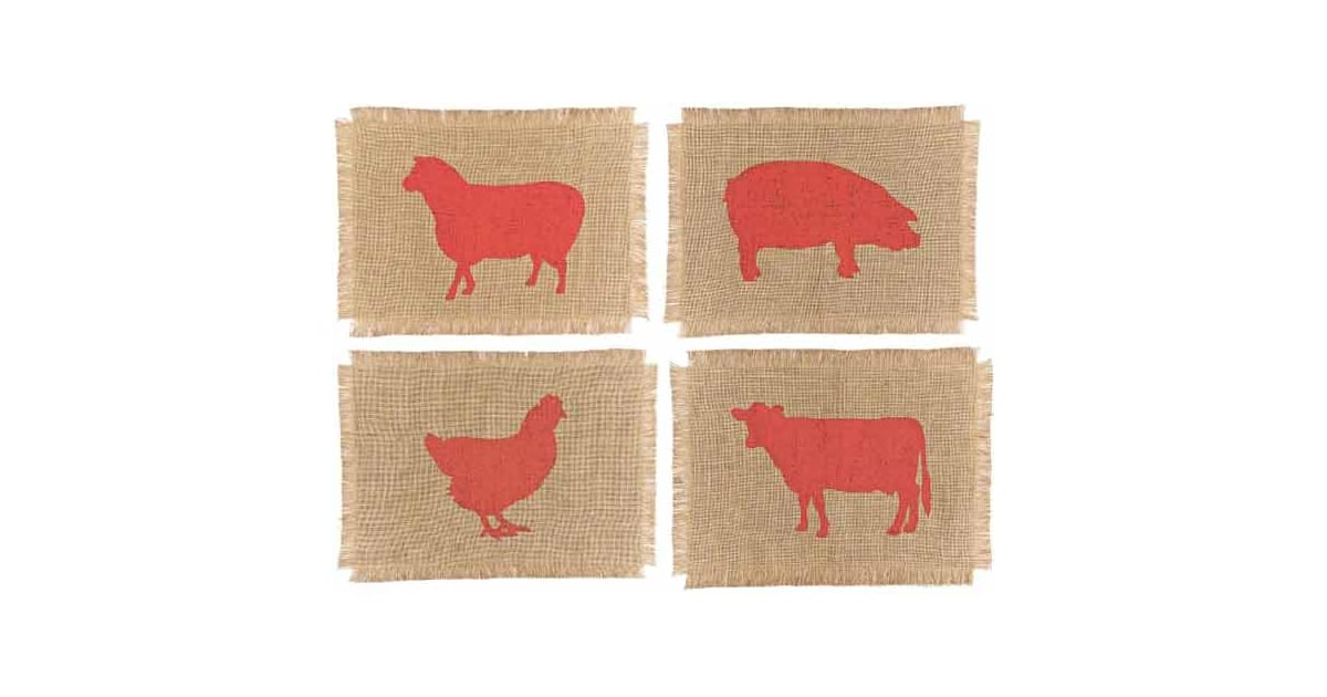 Nice And New Simrin Farmyard Placemats Popsugar Home