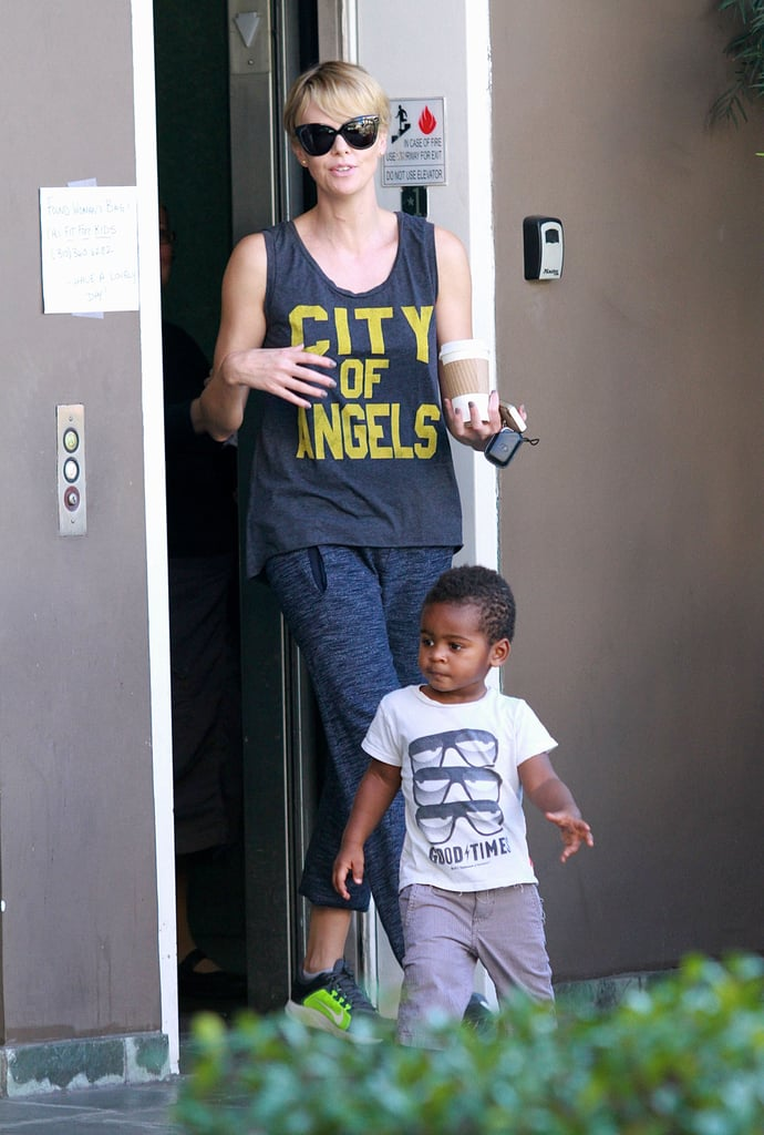 Charlize Theron spent the afternoon with Jackson Theron.