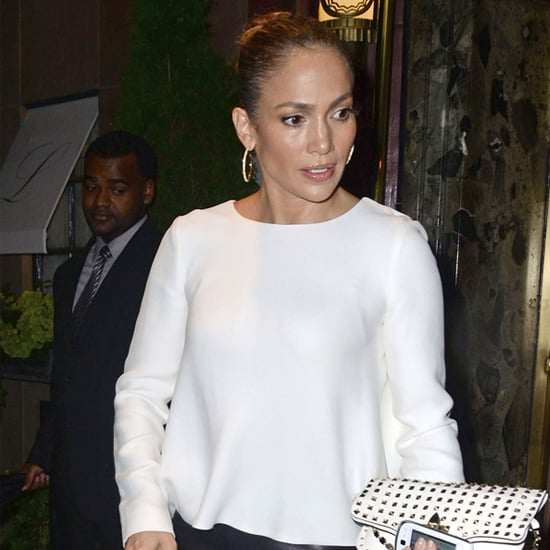 Jennifer Lopez Wearing Black Leather Pants