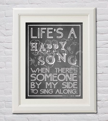 """""""Life's a Happy Song"""" Wall Art"""