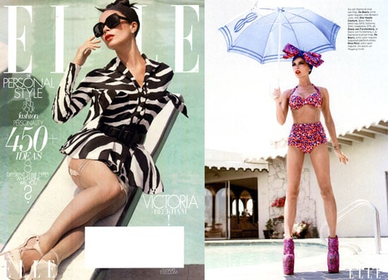 Photos of Victoria Beckham in Elle; Subscribers' Cover
