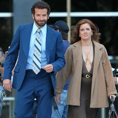 Bradley Cooper and Amy Adams on American Hustle Set