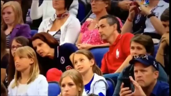 USA Gymnast's Parents React to Her Performance