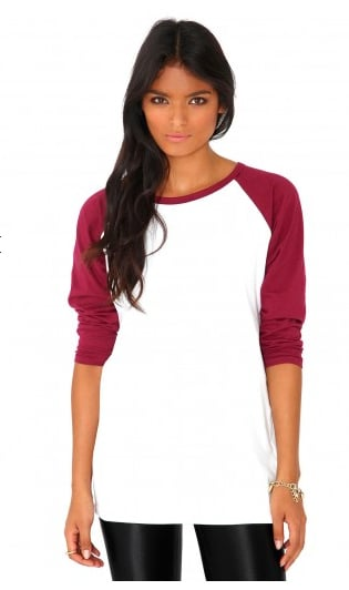 This MissGuided Kartea raglan sleeve tee ($17) is like your everyday t-shirt, only better.