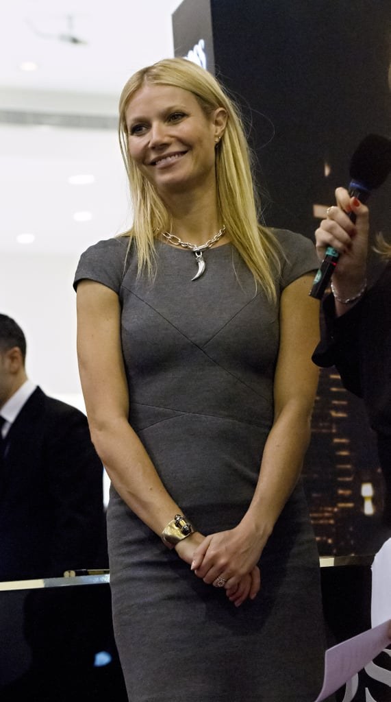 Gwyneth Paltrow made an in-store appearance for Boss Nuit at Paris Gallery in Dubai.
