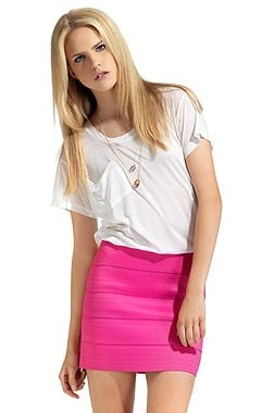 Pleasure Doing Business Pink 3 Band Skirt