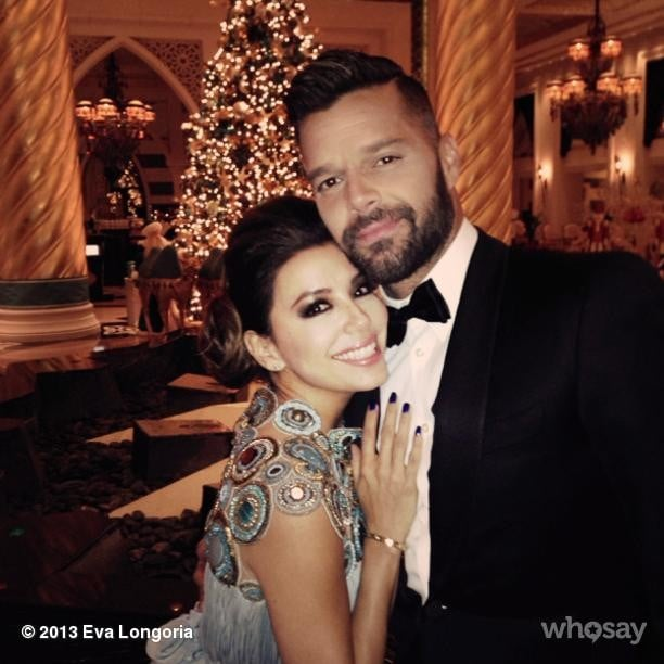 Eva Longoria showed support to her longtime friend Ricky Martin at an event in Dubai. Source: Eva Longoria on WhoSay