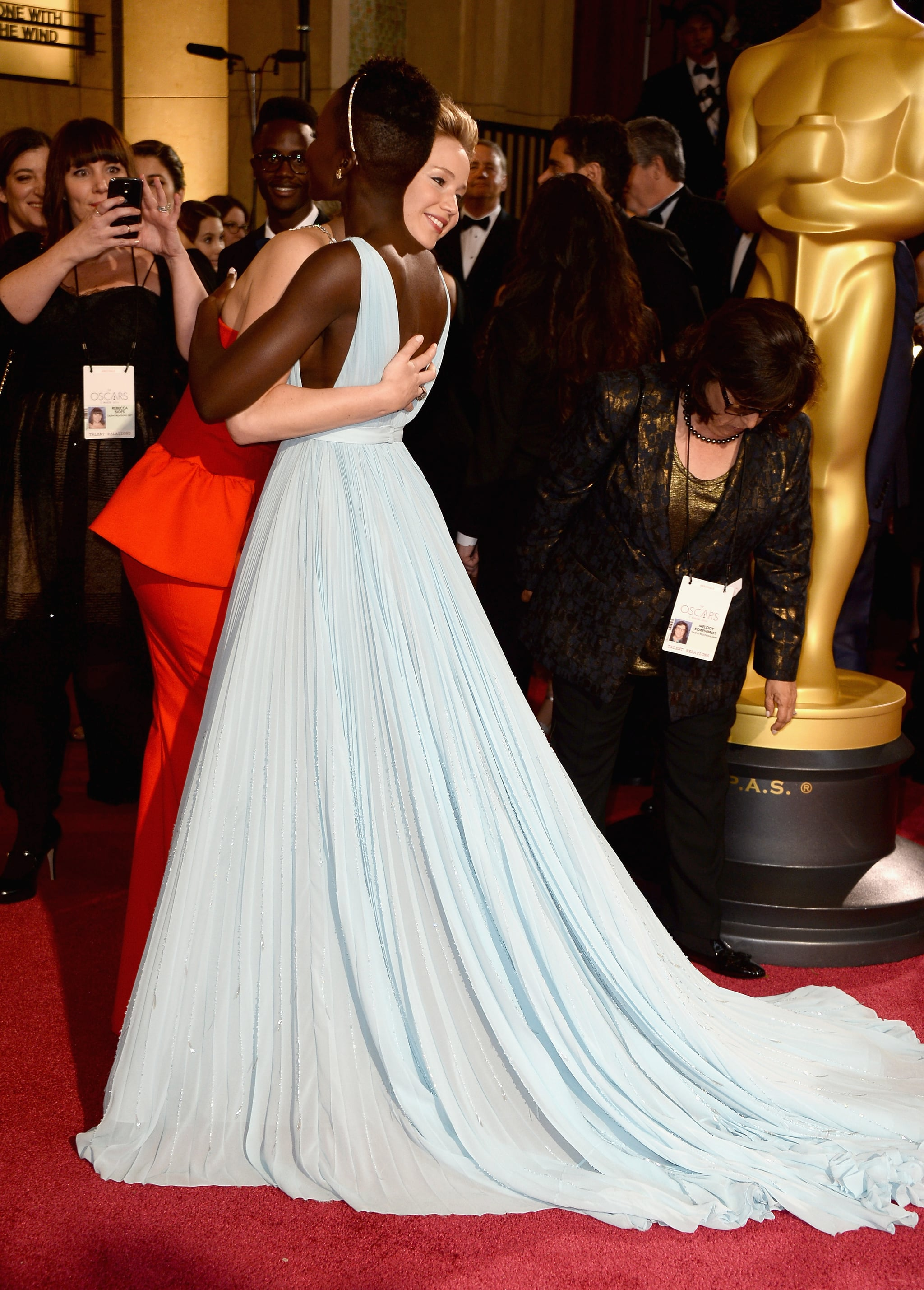 Jennifer and Lupita Hugged It Out