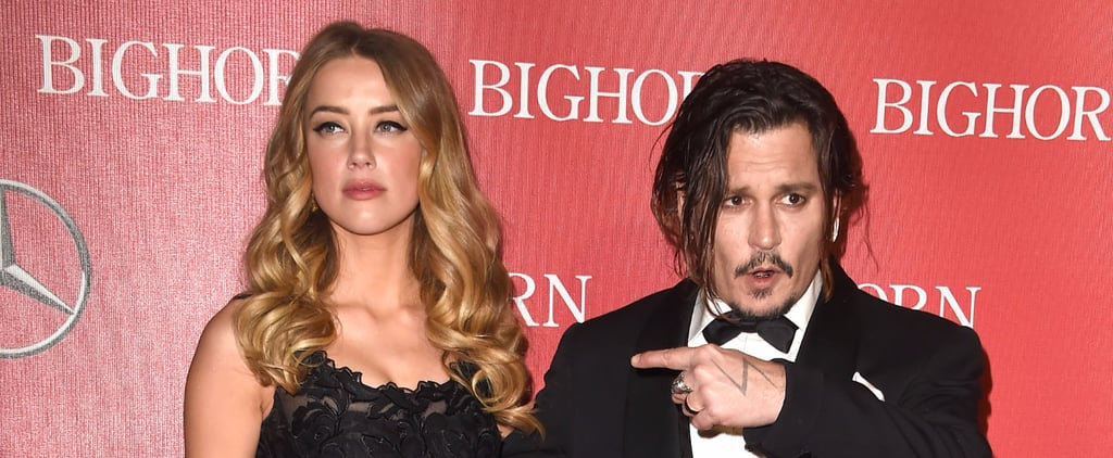 """Johnny Depp Thanks His Wife, Amber Heard, and Admits Living With Him """"Can't Be Easy"""""""
