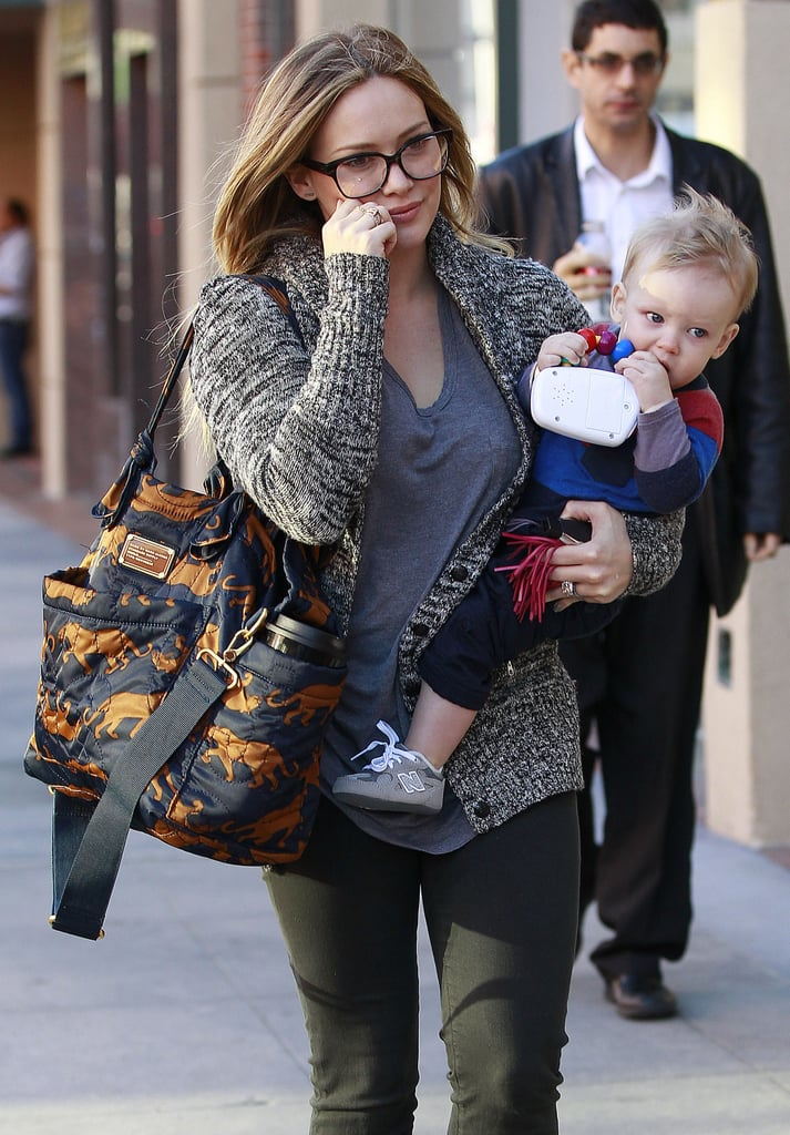 Hilary Duff carried her son, Luca.