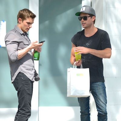 Zac Efron and Dave Franco on Townies Set