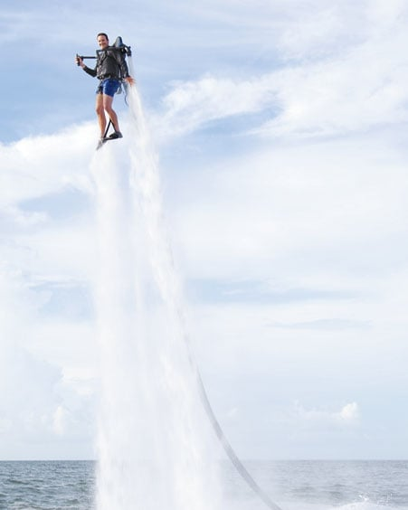 Big Thunderball fan? Then you'll love this JetLev R200 ($99,500). Don't worry, the package also come with a certification and training course before you blast yourself into space.