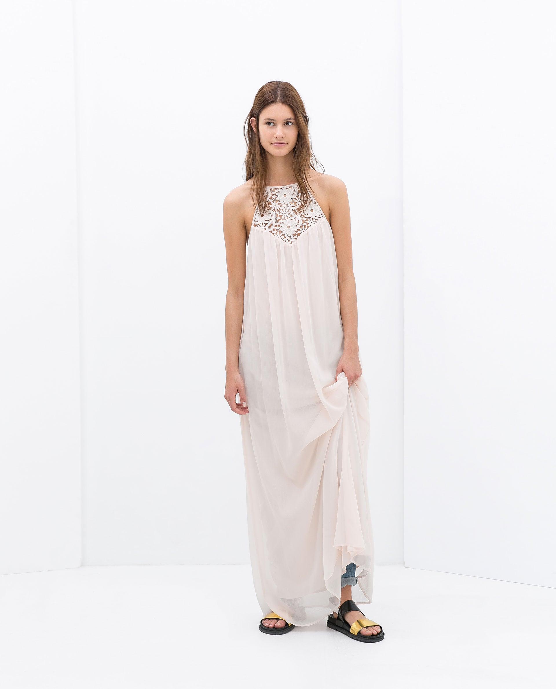 Zara Embroidered Maxi Dress
