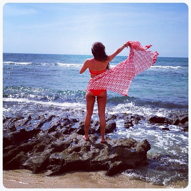 Lea's trip south of the border came not long after a vacation in Hawaii earlier this month, where she snapped this colorful picture and lounged in a tiny red bikini. Source: Instagram user msleamichele