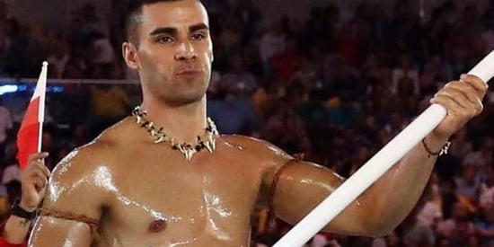 The Shiny Tongan Olympian Finally Explains All That Oil