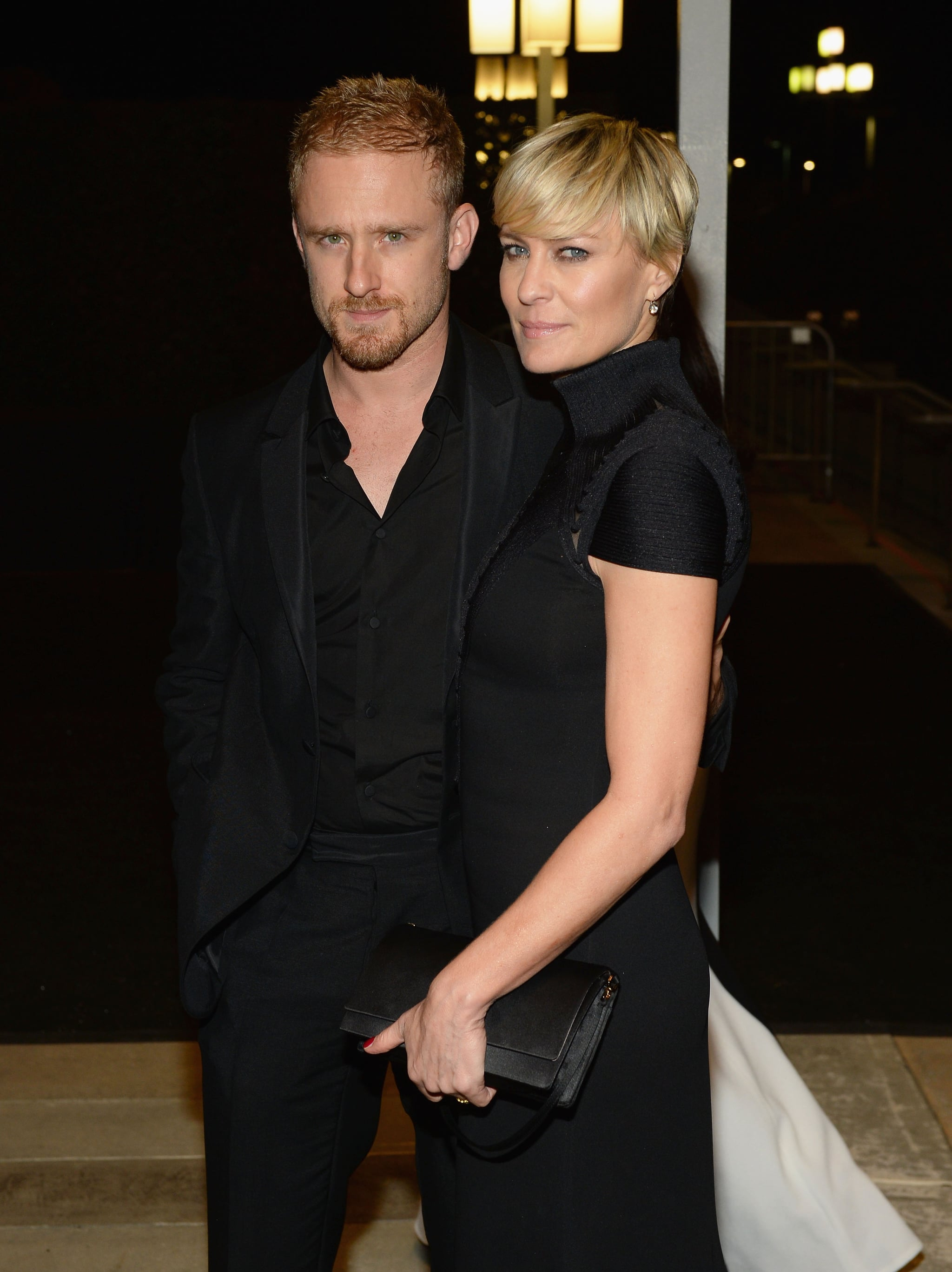 Robin Wright and Ben Foster attended the 2013 Emmys Governors Ball.