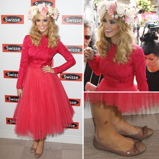 Delta Goodrem in Pink Dior Dress at the 2012 Melbourne Cup